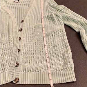 J. Crew Sweaters - J.Crew Open Knit Button Front Cardigan, Large